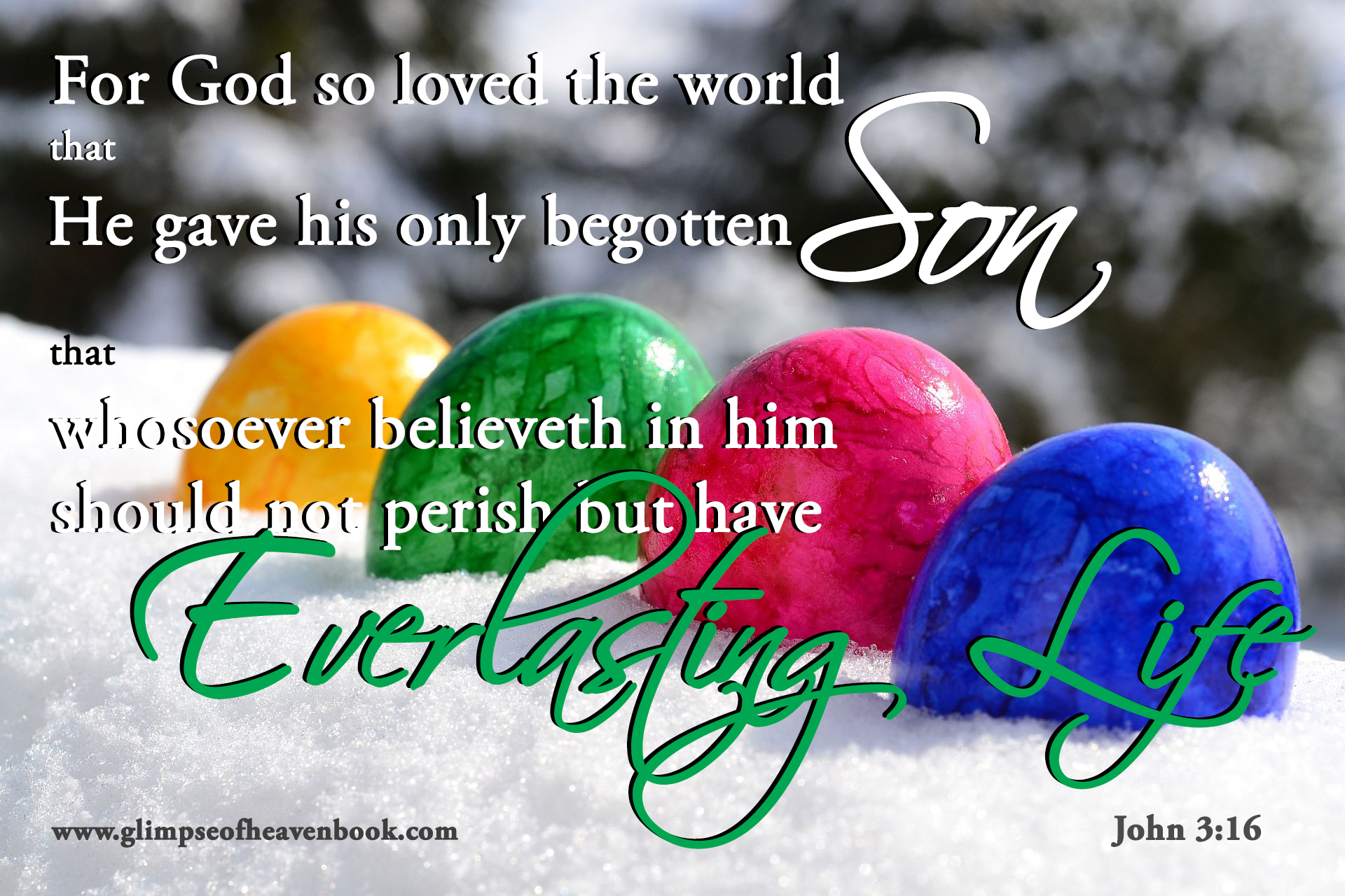 For God So Loved The World That He Gave His Only Begotten Son Easter